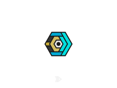 Development Center design cyan c rejected center flatdesign inkscape bolt blue icon logos logo hexagonal hexa wrench development dc