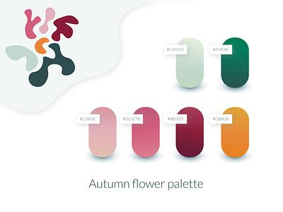 Autumn flower palette illustration color scheme autumn gradient graphicdesign designinspiration illustrator vector color design color palette colors art adobe illustrator adobe creative design