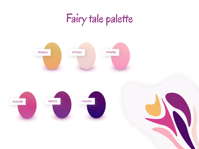 A fairy tale color palette magic imagination fairytale palette inspiration designer designinspiration uitrends color palette pinky colorscheme colors color vector illustration illustrator adobe design dashboad creative
