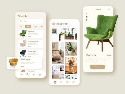 Furniture mobile application e-commerce app shoping iosapp uiuxdesign uiux uitrends appdesign ux ui dashboard interface adobexd xd design furniture app furniture creative mobile mobile ui app application