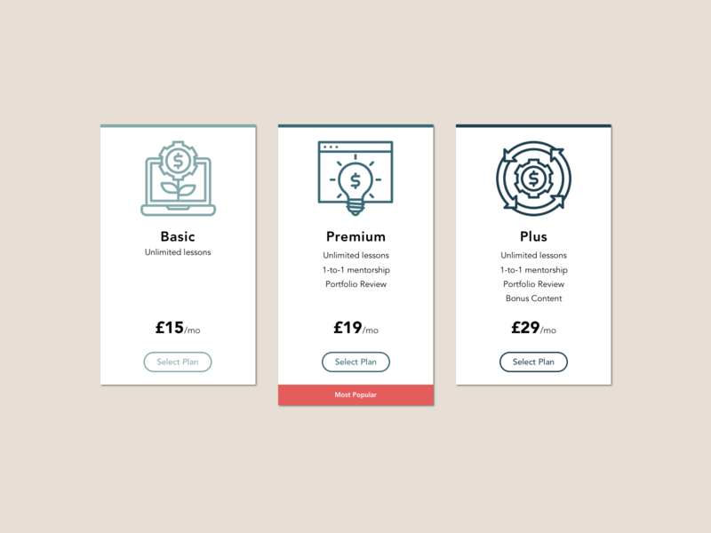 #DailyUI Day 30 - Pricing plans price pricing plans pricing table pricing plan pricing page pricing 030 30 web design dailyui ui dailyuichallenge