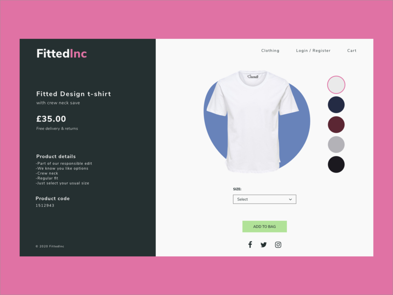 #DailyUI Day 33 - Customise Product 033 33 clothes clothing shop customize product customizer customise customize daily ui 32 032 32 web design dailyui ui dailyuichallenge