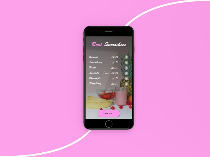 #DailyUI Day 43 - Food / Drink Menu smoothies smoothie food and drink drinks menu drinks drink menu menu drink food 043 43 mobile ui design dailyui ui dailyuichallenge