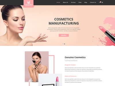 Cosmetics Manufacturing WordPress Theme manufacturing wordpress theme html web cosmetic mockup cosmetic