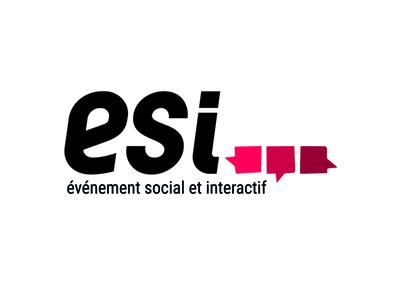 Logo ESI (Evénement Social et Interactif) social event logodesign graphic graphicdesign visual identity identité visuelle logotype graphisme graphism logo