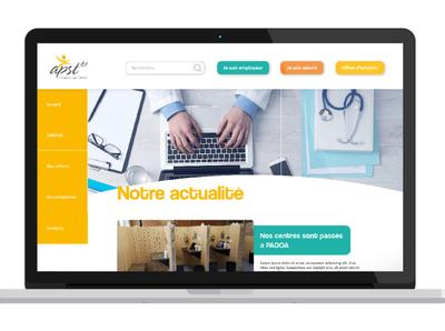 Site internet APST41 (médecine du travail) workers work health care health medecine website design refont website webdesign design graphisme graphism graphicdesign graphic