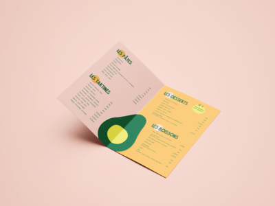 Identité visuelle et menu The fast avocado card menu edition logotype design visual identity logodesign logo identité visuelle graphisme graphism graphicdesign graphic
