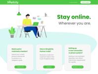 Landing for Internet provider vector ui landing page design landingpage