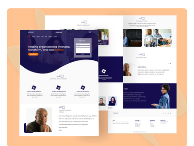 Consultancy Agency Landing Page online consultancy consultancy ui  ux