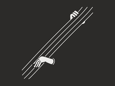 Strings line illustration musician white black instrument strings music cello