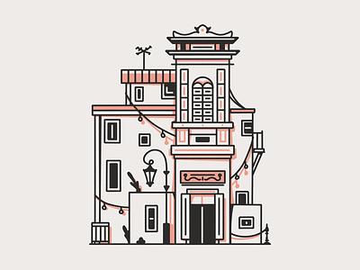 Latinoamerica - La Boca - Argentina neighbourhood houses dibujo ilustracion barrio building illustration sudamerica argentina latinoamerica la boca