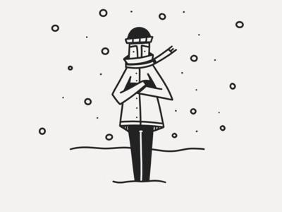 Freeze line line work linear black white black ink winter snow cold freeze inktober