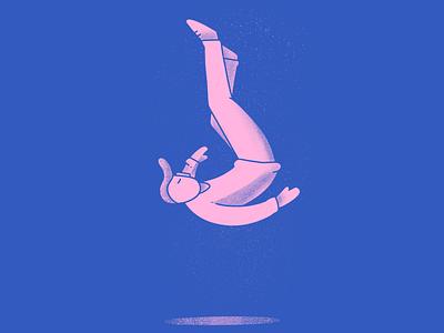 Falling procreate character fall illustration inktober falling