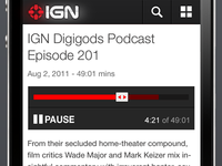 New Podcast player