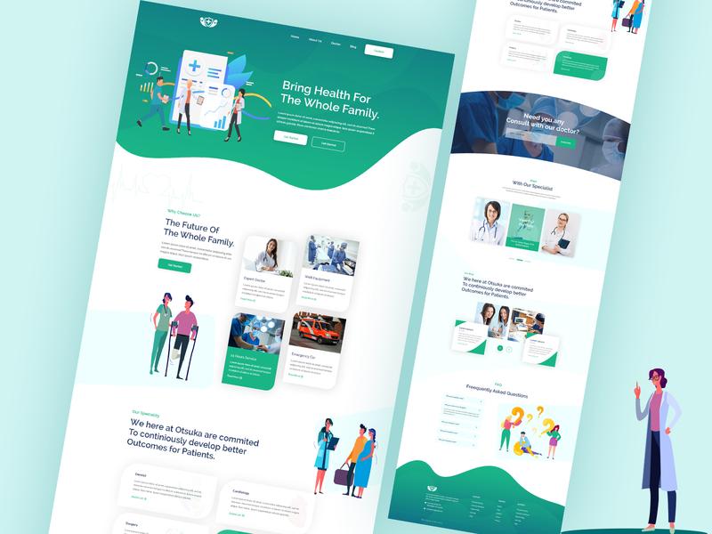 Medical Website Design dashboard app design landing page design website development ui ux design ui design minimal medical app illustraion color clean agency