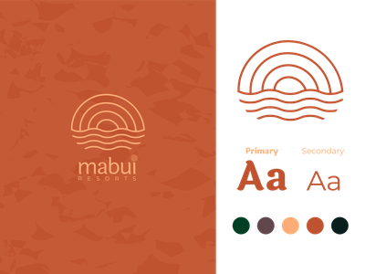 Mabui Resorts resorts logo mark brand identity brand design logotype design typography logo icon branding