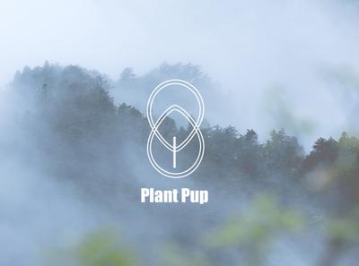 Plant Pup logo simple design simple logo modern logos minimalistic logodesign
