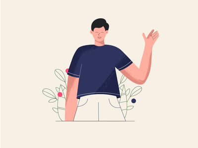 Welcoming typography art ux animation home characterdesign app ui design illustrator illustration business boy girl character design character minimal vector flat 2d