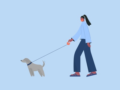 Walk annualreport annual report design airport walking dog pet ux ui characterdesign character design vector character design minimal illustrator illustration flat art