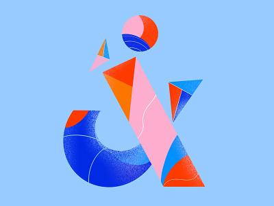 Ampersand letter ampersand ui logo design 2d vector minimal illustrator flat illustration art