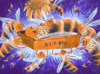 Bee funeral hunour funny environment nature bees picturebook publishing kidlitillustration kidlitart illustration editorial childrens illustration children book illustration chapterbook