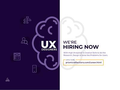 Hiring UX Designers creative designstudio designstudionashik designer uxdesigners hiringhow