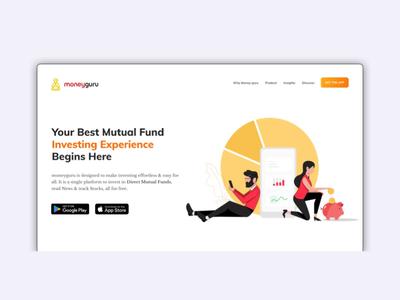 Home page for Moneyguru Mobile Application.
