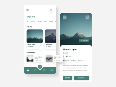 Travel App UI travelling bokking app explore travel app travel minimal mobile mobile app ui ui design design clean app design app