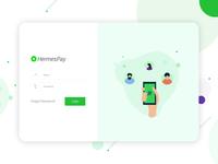 Login screen for payment app