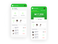 Payment app mobile UI
