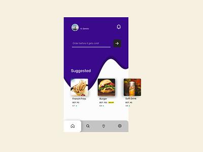 Food app design #1 minimal app ux ui branding