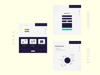 Portfolio Mockup | UI/UX Design web minimal ux ui design