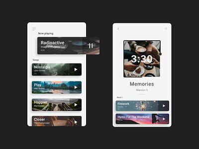 Music Player | UI/UX Design minimal ux ui