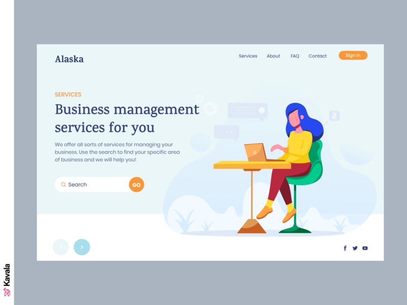 Business website daily ui dailyui web design homepage landing page ui uiux ui design kavala figma illustrations illustration