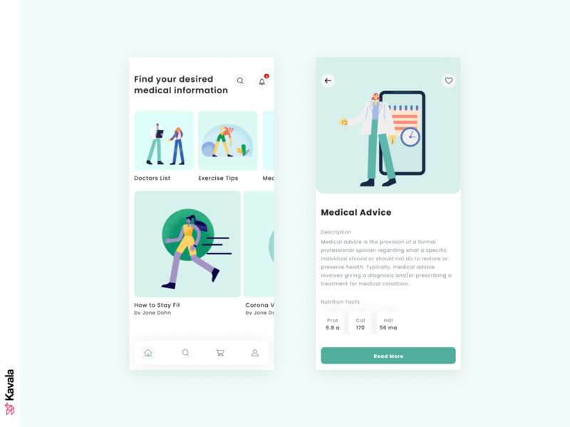 Medical app medical medical app dailyuichallenge dailyui daily ui mobile ui mobile ui uiux ui design kavala illustrations illustration figma
