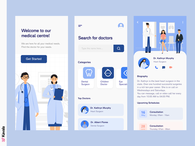 Medical app coronavirus corona medical medial app app app design mobile ui dailyui ui uiux ui design kavala illustrations illustration figma
