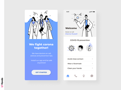 Medical app covid19 coronavirus corona medical app medical app app design mobile ui dailyui ui uiux ui design kavala illustrations illustration figma