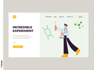 Science website science landing page homepage ui uiux ui design kavala illustrations illustration figma