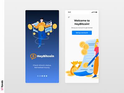 Bitcoin app cryptocurrency bitcoin app bitcoin mobile ui app app design dailyui ui uiux ui design kavala illustrations illustration figma