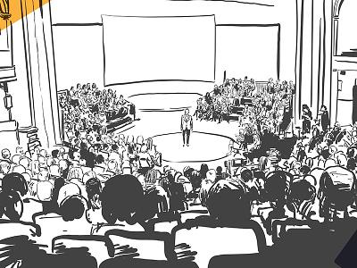 Illustration conférence illustration