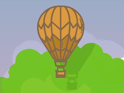 Montgolfière - infographie Framasoft balloon montgolfière illustration