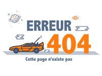 Erreur 404 illustration