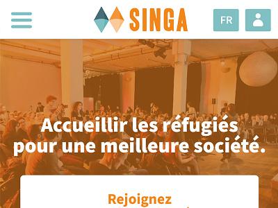 Design interface Singa – association pour les réfugiés mobile singa interface
