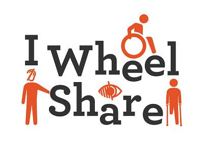 I Wheel Share logo proposal handicap identité visuelle visual identity logo