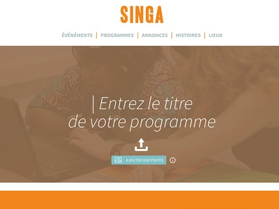 Singa interface design