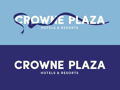 Crowne Plaza rebrand Logo brand design crown plaza crowneplaza branding university typography student vector logo design graphic design flat illustration