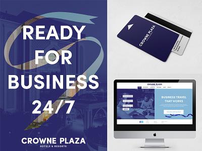 Crowne Plaza rebrand poster design card website web poster typography vector university student logo illustration graphic design flat design branding