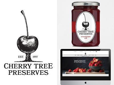 Cherry Tree Preserves rebrand university student logo design logo icon illustration typography web web design website design website packaging design packaging redesign rebrand brand design branding brand graphic design design