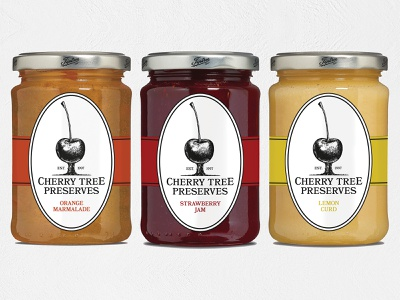 Cherry Tree rebrand Packaging illustration typography university student food packaging design packaging rebrand redesign logo design logo brand design branding brand graphic design design