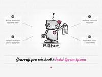 Blabot - Czech Lorem ipsum for girls